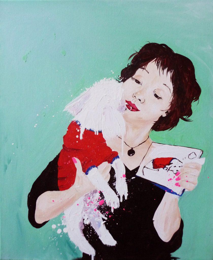 Woomy - Huile sur toile (65x54 cm)