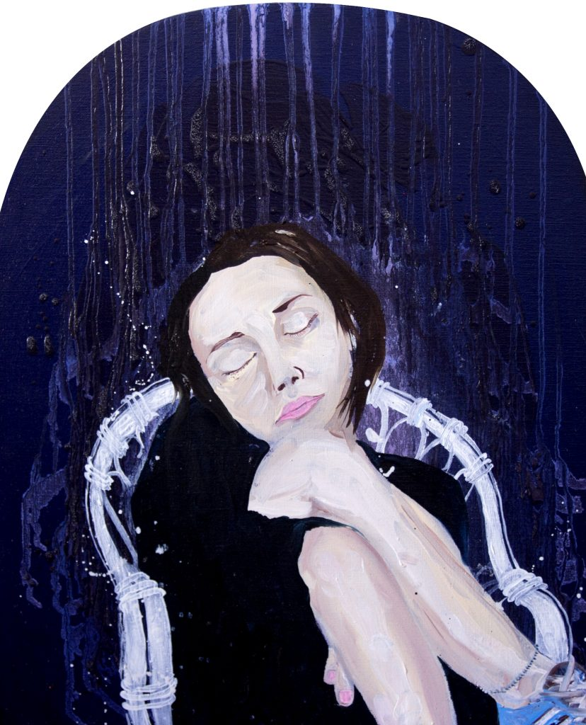 Jenifer - Huile sur toile (55x45cm)