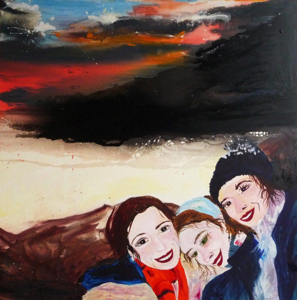 Tres Cruces - Huile sur toile (120x120cm)