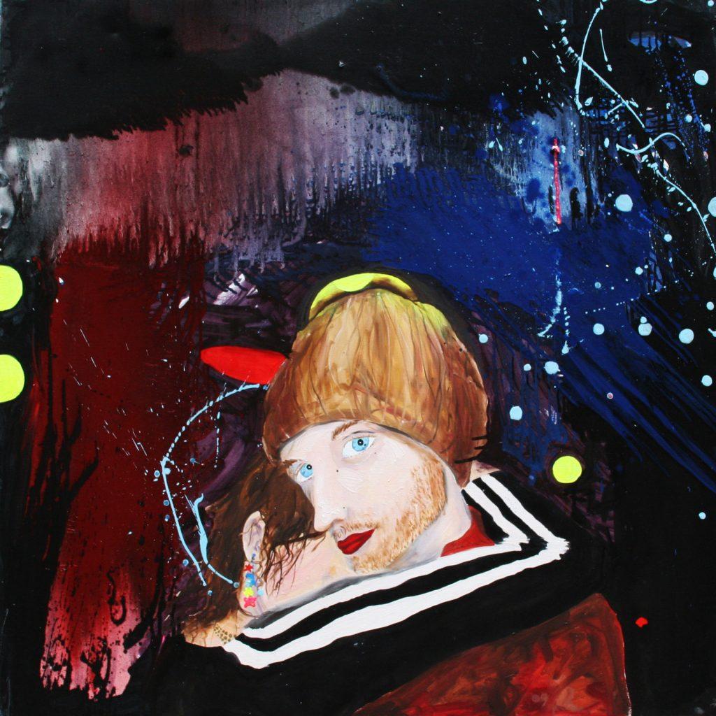 Babel Café - Huile sur toile (120x120cm)
