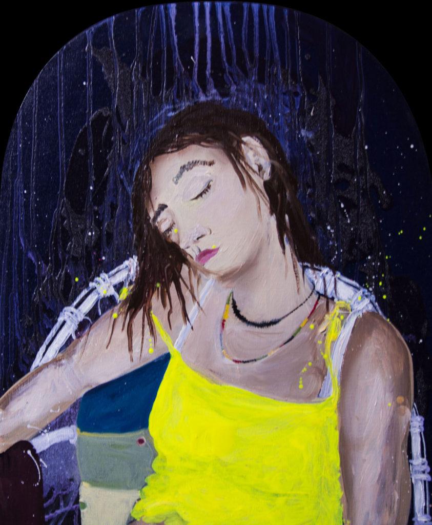 Kiki - Huile sur toile (55x45cm)